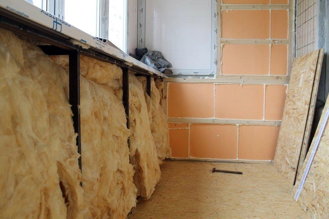 Утепление лоджии своими руками  (44 фото): как утеплить правильно изнутри, пошаговая инструкция утепления пола и стен минеральной ватой