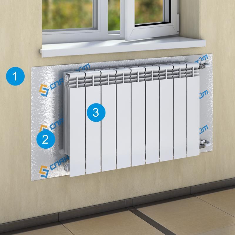Зачем нужен теплоотражающий экран для радиатора?