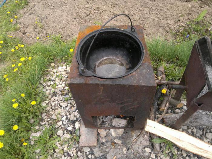 Сделать своими руками печку для казана, выбрать плиту: кирпич, металл, инструкция