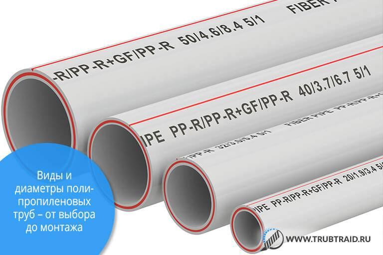 Полипропиленовые трубы для отопления, армированные стекловолокном: виды, преимущества и недостатки