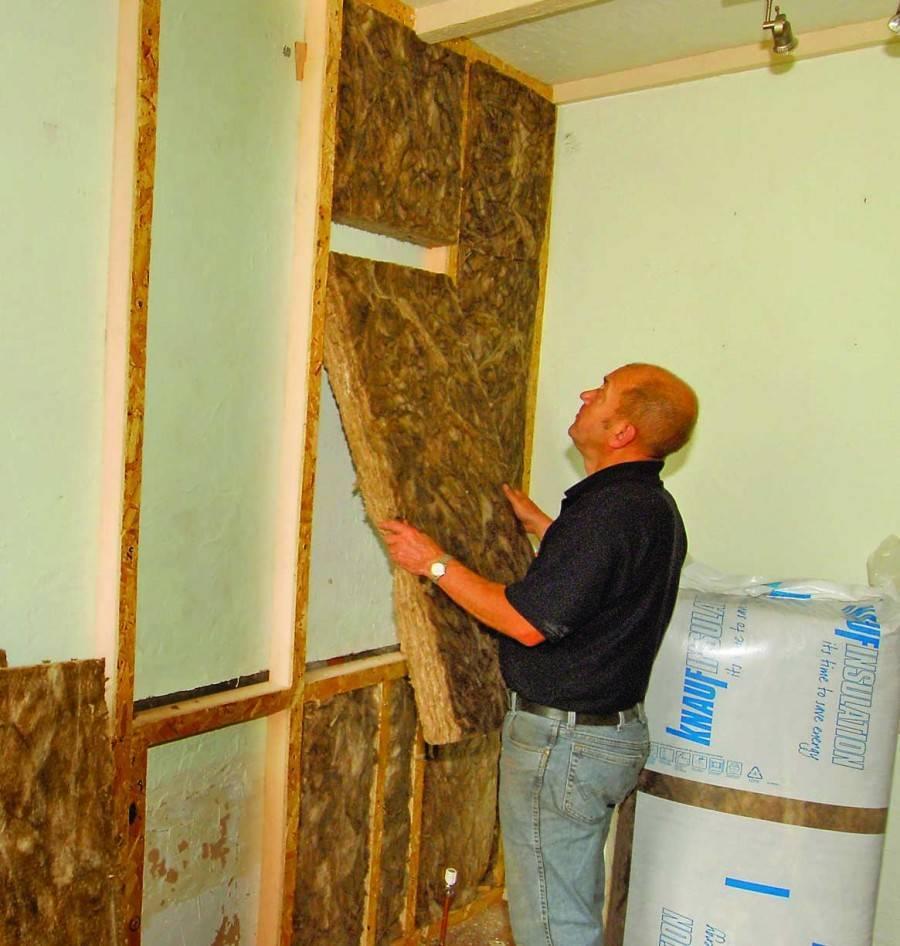 Утеплитель для стен дома внутри
