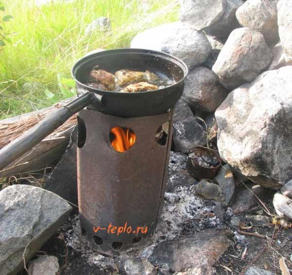 Походная печка своими руками: чертежи + фото