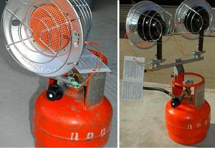 Обогрев гаража газовой пушкой: разновидности оборудования, требования при установке