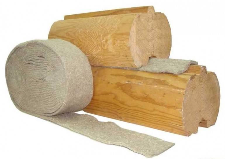 Выбираем межвенцовый утеплитель для бани избруса: джут, лён, шерсть или синтетика
