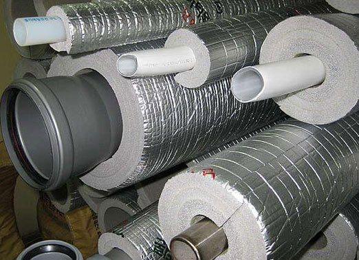 Теплоизоляция для труб отопления: утепление на улице