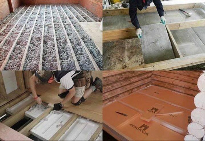Утепление пола пеноплексом в деревянном доме: излагаем детально