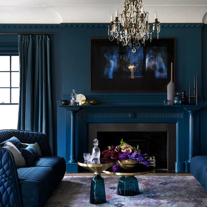 Дизайн в голубых тонах: 67 лучших вариантов, фото в интерьере