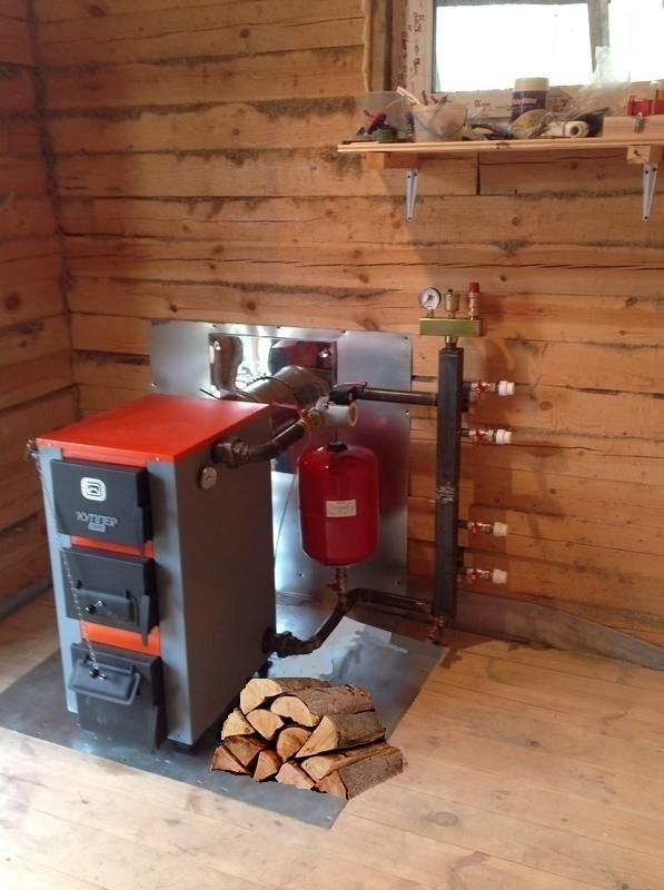 Установка дровяного (твердотопливного) котла в деревянном доме своими руками