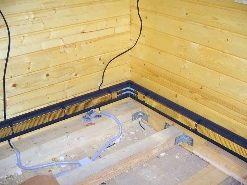 Плинтусное отопление: разводка электрического и водяного типа, особенности системы