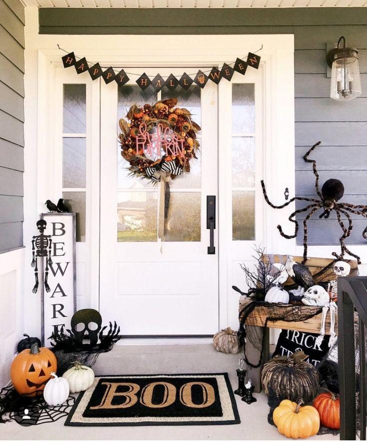 Украшения на хэллоуин: оранжевая феерия чудес