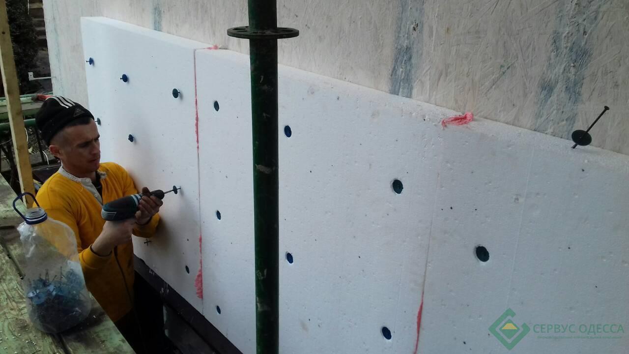 Крепление пенопласта к стене или как быстро и надежно утеплиться? + видео