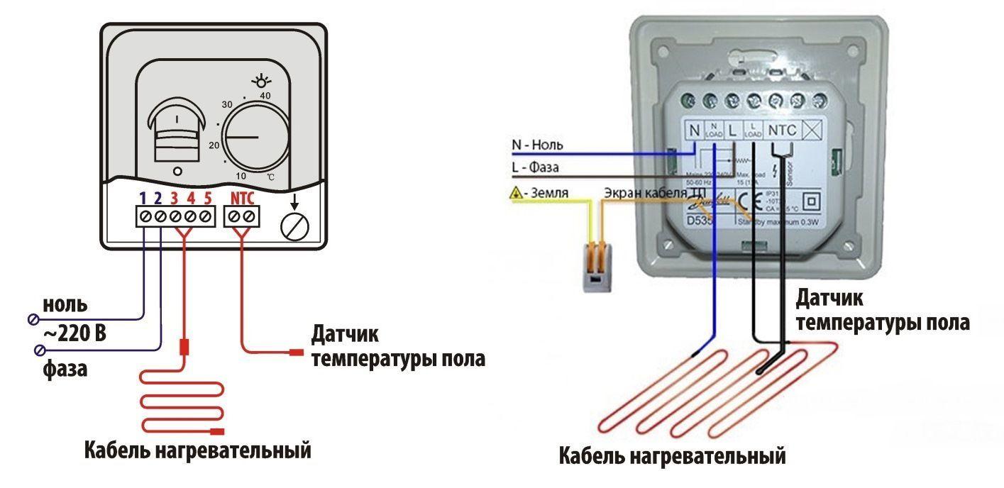 Терморегулятор для водяного теплого пола: виды и как выбрать, схема подключения