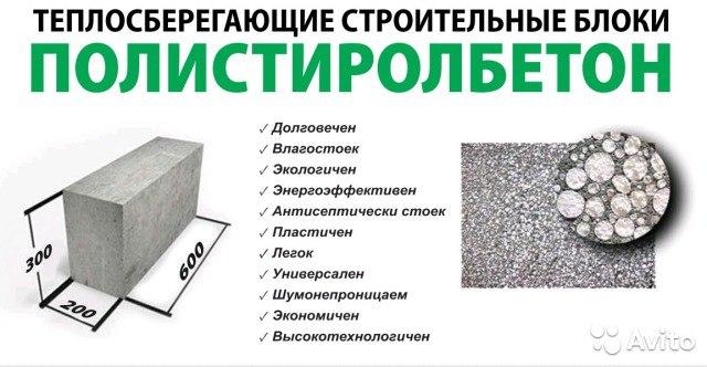 Полистиролбетон: сфера применения материала