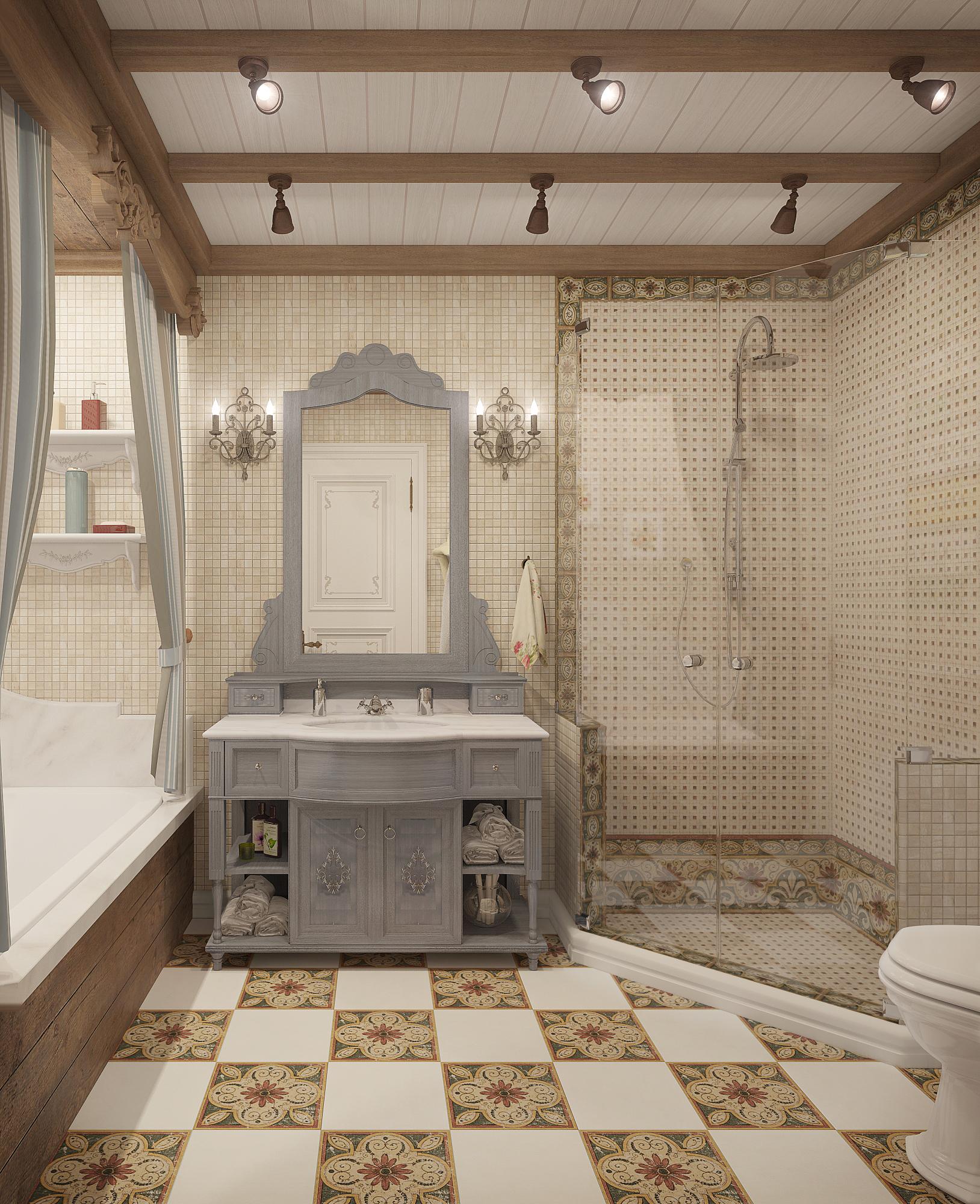 Ванная комната в стиле прованс: фото и варианты отделки