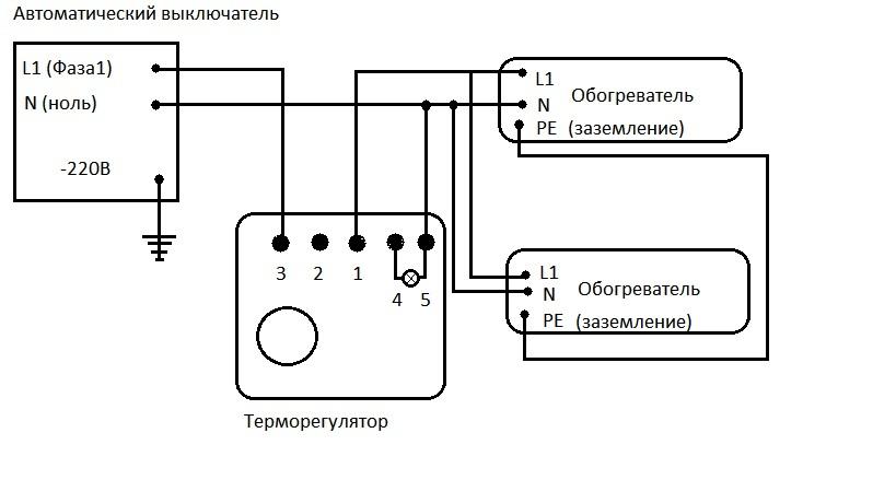 Как подключить инфракрасный обогреватель