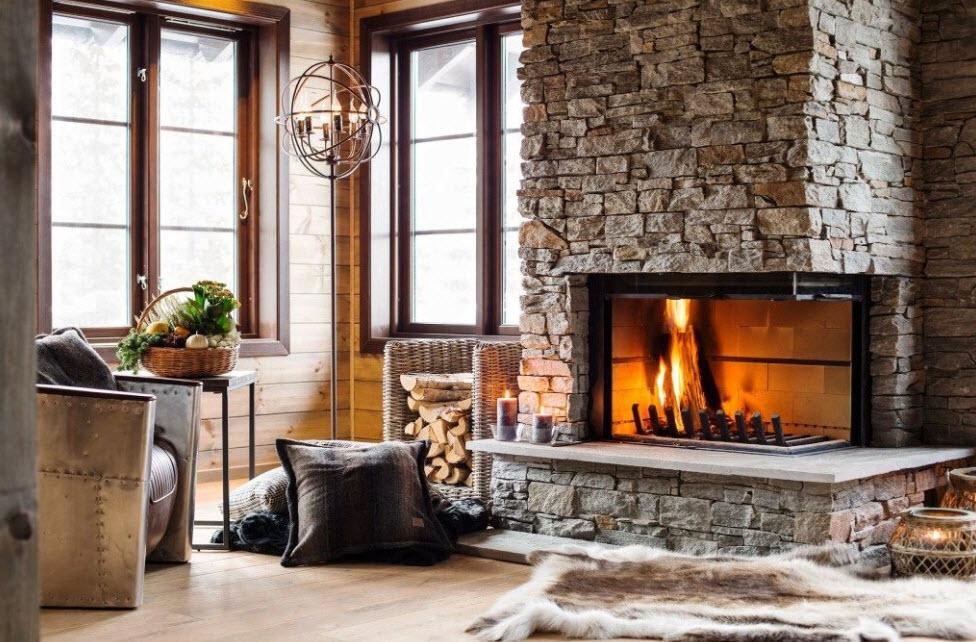Камины дровяные (57 фото): встраиваемые модели на дровах длительного горения в интерьере гостиной, пеллетные варианты в стиле модерн