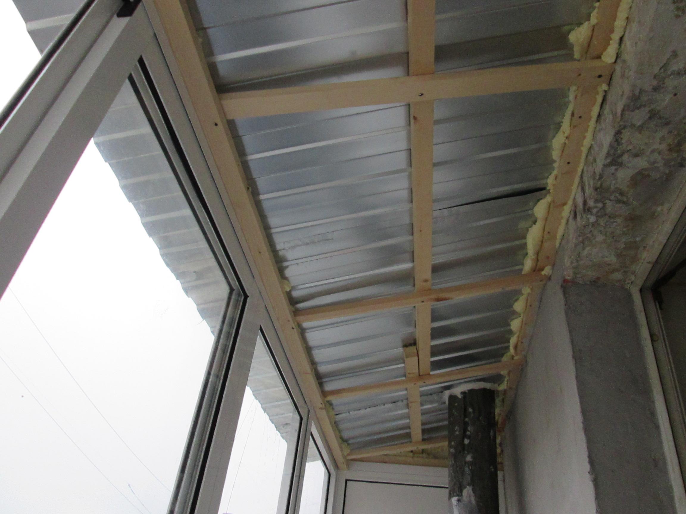Как сделать крышу на балкон последнего этажа