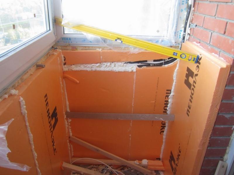 Утепление балкона пенопластом изнутри и снаружи: технологии пошагово
