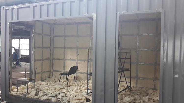 Утепление контейнера внутри схема, изнутри и снаружи