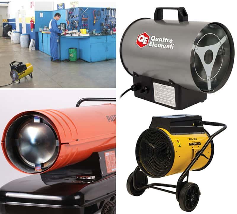 Тепловые пушки для гаража – какую выбрать