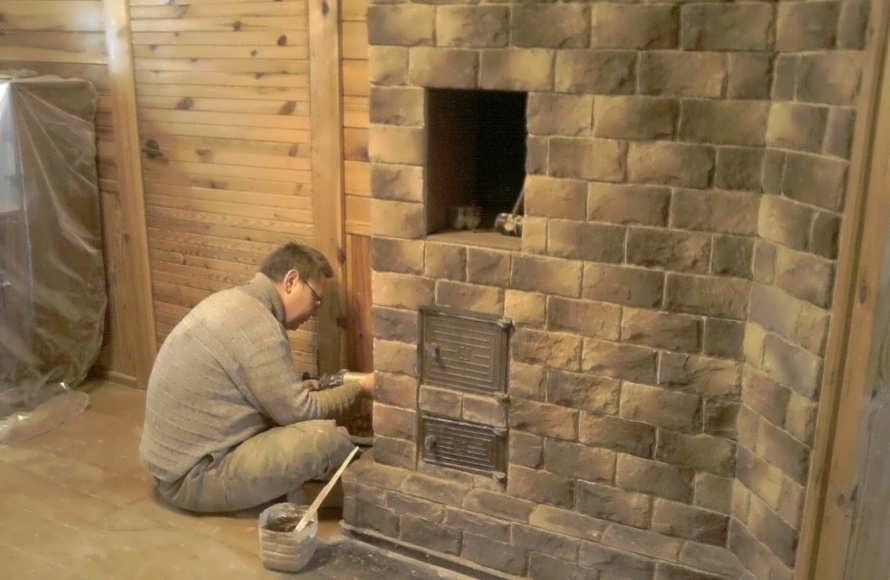 Как обложить печь керамической плиткой: облицовка своими руками