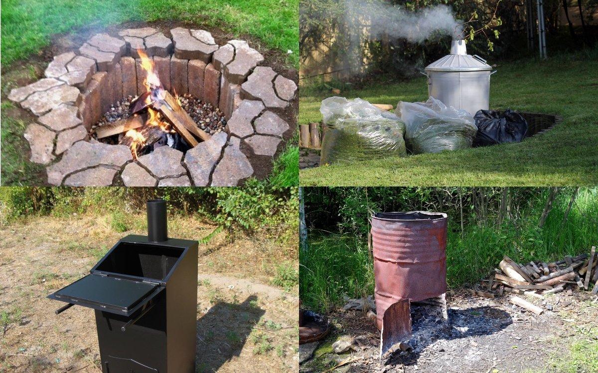 Садовая печь для сжигания мусора на даче: как сделать своими руками