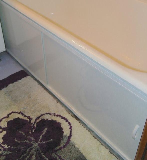 Экран под ванну из пластиковых панелей раздвижной: установка своими руками, фото в интерьере » интер-ер.ру