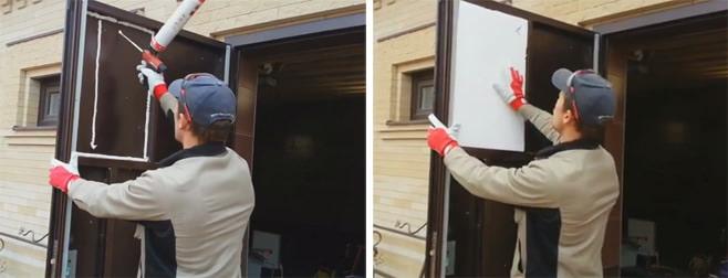 Как утеплить металлическую входную дверь: мастер-класс с фото   двери дома