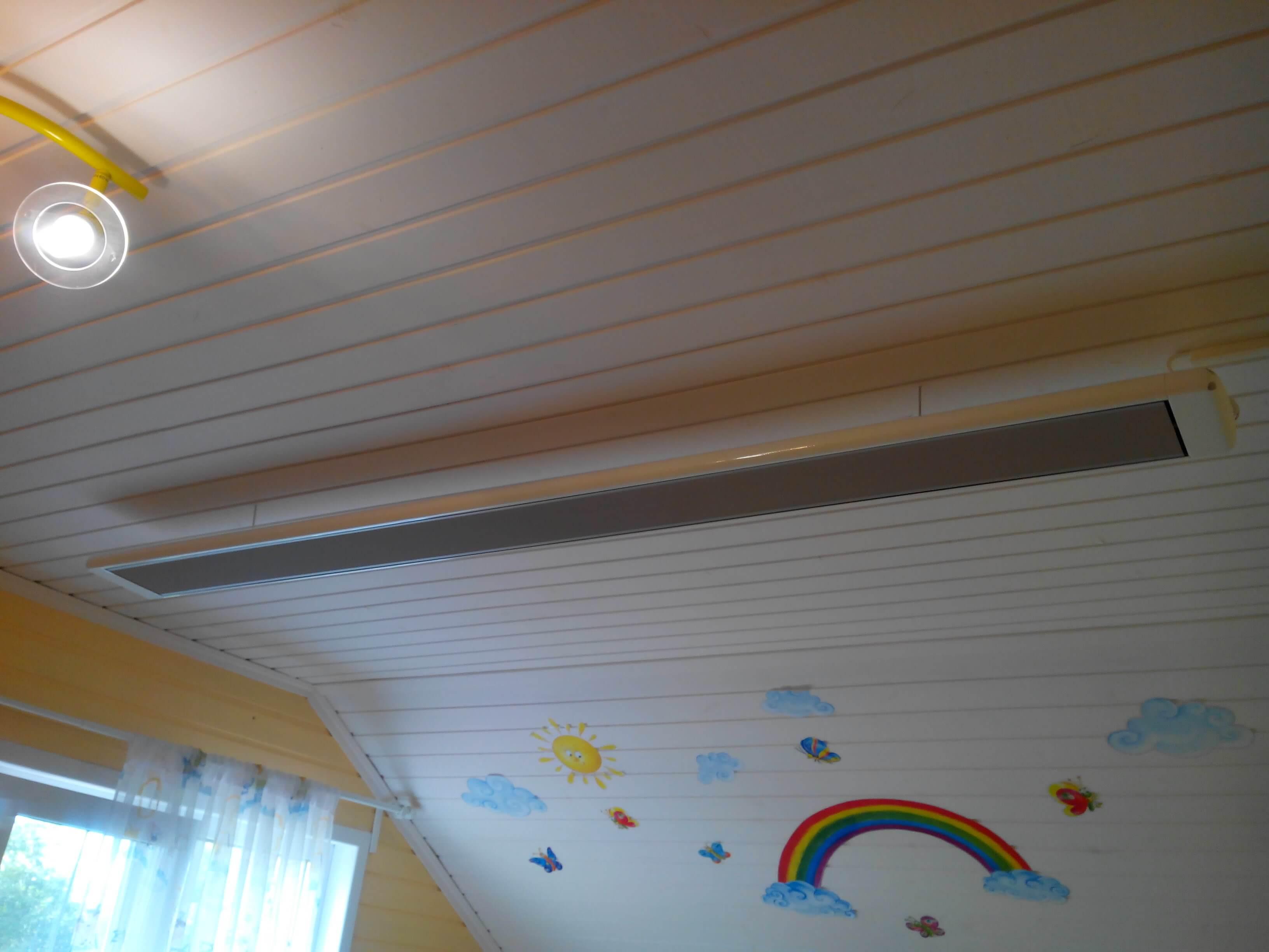 Потолочный обогреватель: выбираем модели с терморегулятором, ультракрасные, индукционные и ультрафиолетовые обогревательные лампы для потолка