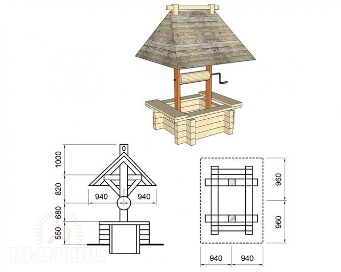 Декоративный колодец на даче: как сделать своими руками, пошаговая инструкция