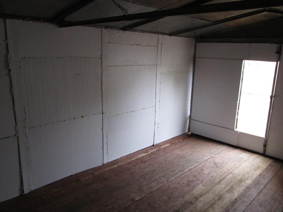 Утепление гаража изнутри своими руками: теплоизоляция стен и потолка, вариант с пенопластом