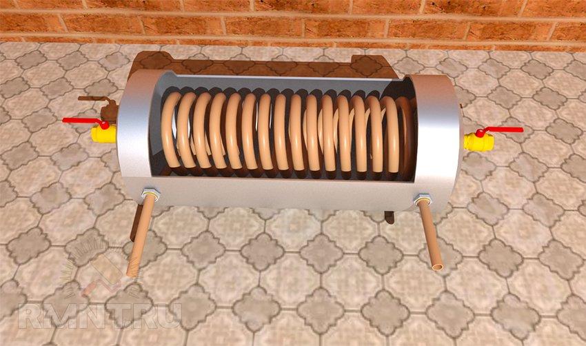 Теплообменник для печи на дровах своими руками: назначение, виды, принцип работы и изготовление