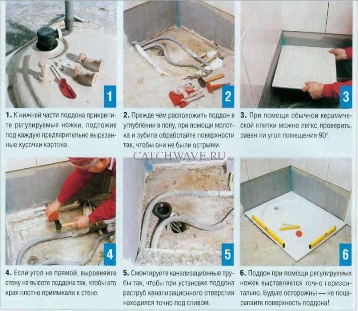 Душевые уголки своими руками из плитки в маленькой ванной комнате: фото, сборка кабины, как сделать угловой поддон в квартире