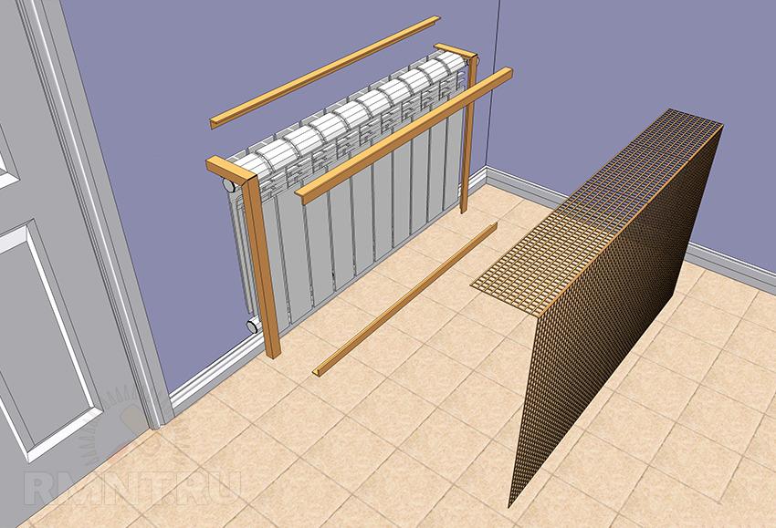 Решетка радиатора отопления: для чего нужен экран и как он крепится на батарее