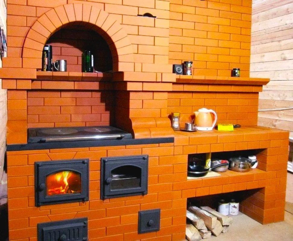 Кирпичные печи для дома с варочной плитой, практика использования