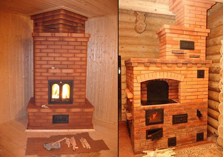 Кирпичные печи для дома на дровах: цена, фото, модели