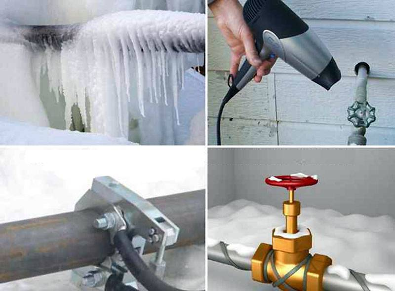 Водопровод замерз: методы разморозки труб в частном доме, варианты утепления трубопроводов и советы экспертов