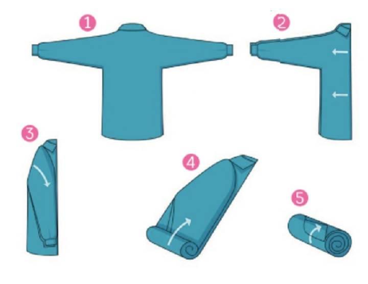 Как правильно сложить футболку, чтобы она не помялась