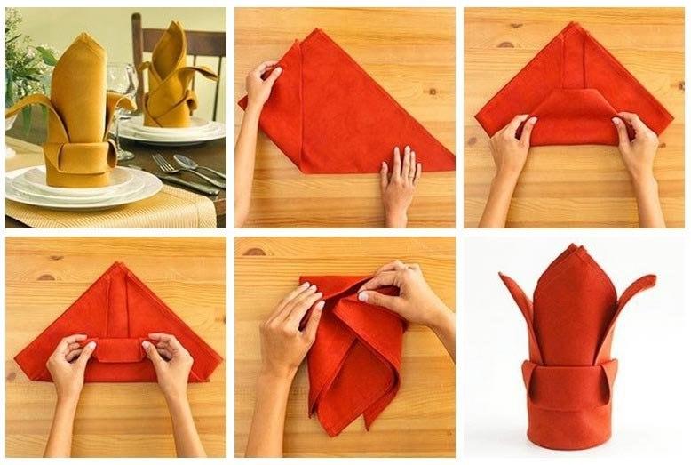 Как красиво сложить салфетки своими руками :: инфониак