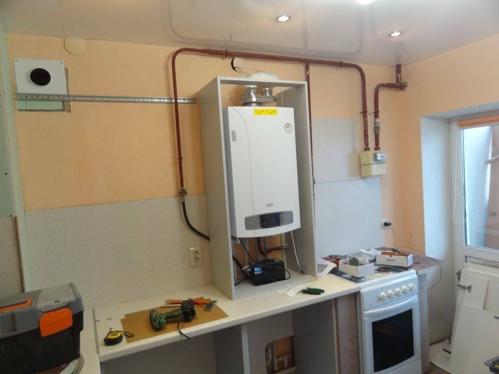 Газовый котел на кухне: правила установки и монтажа, как спрятать газовый котел на кухне