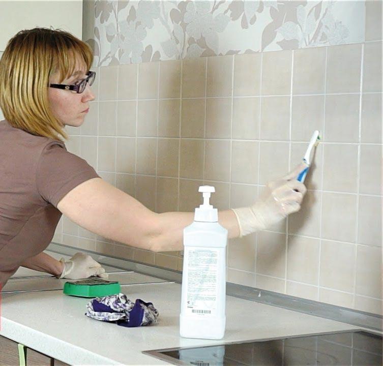 Как очистить швы между плиткой на кухне? как отмыть их от жира народными средствами? как почистить кафельную и керамическую плитки?