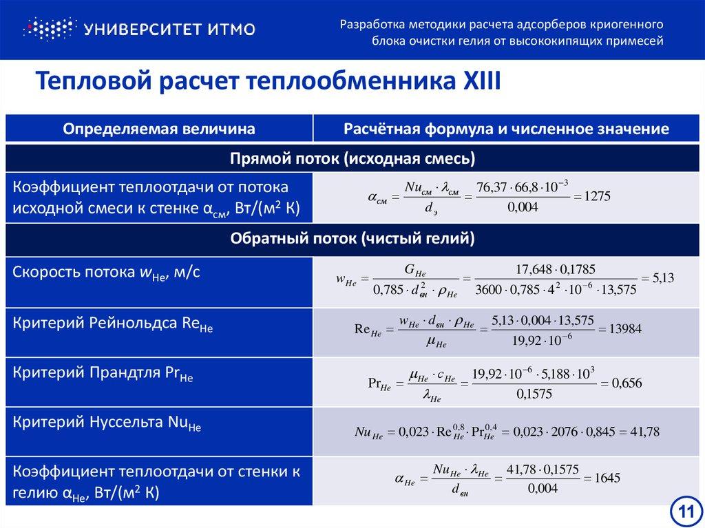 Тепловая мощность - формула расчета