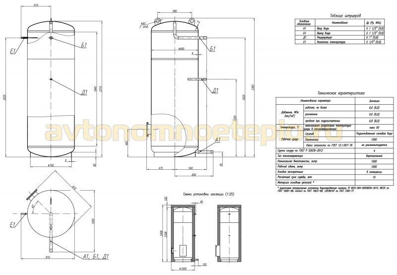 Схема отопления с буферным баком и твердотопливным котлом
