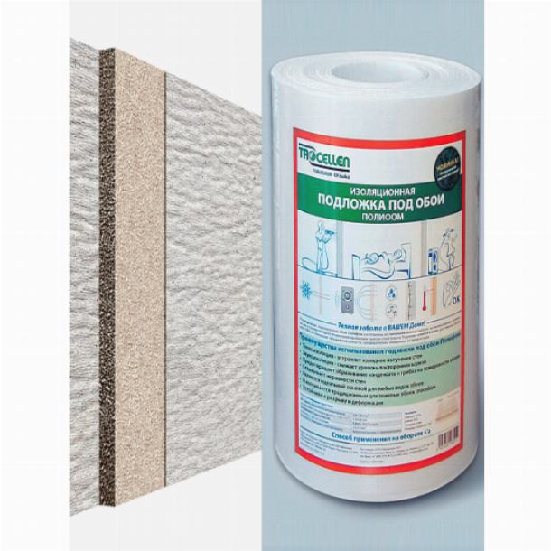 Утеплитель под обои, рулонный теплоизолятор для стен полиформ, как и чем его клеить в квартире