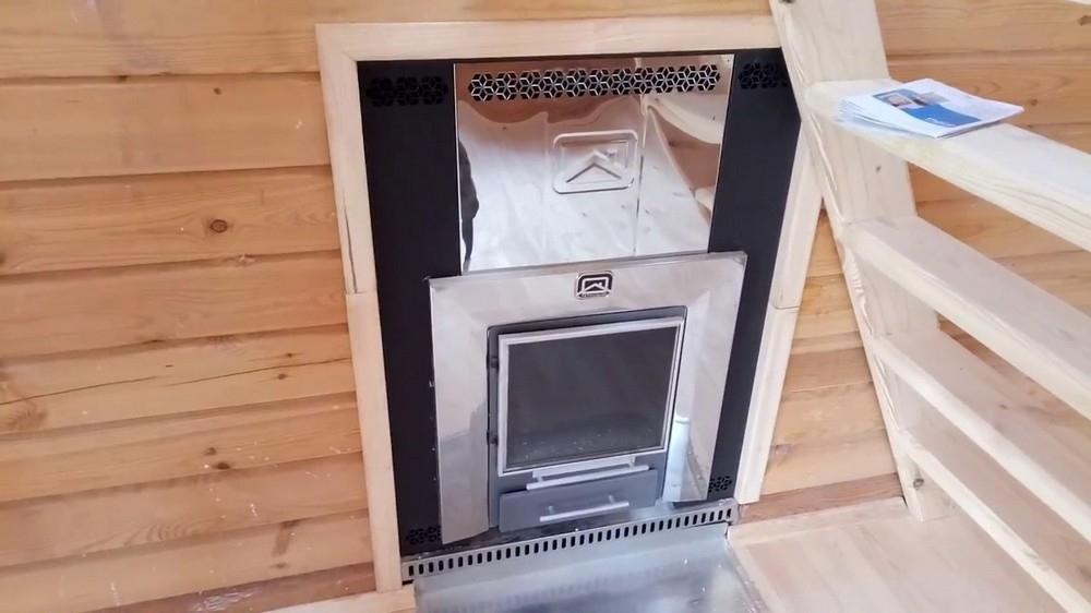 Экранируем банную печь