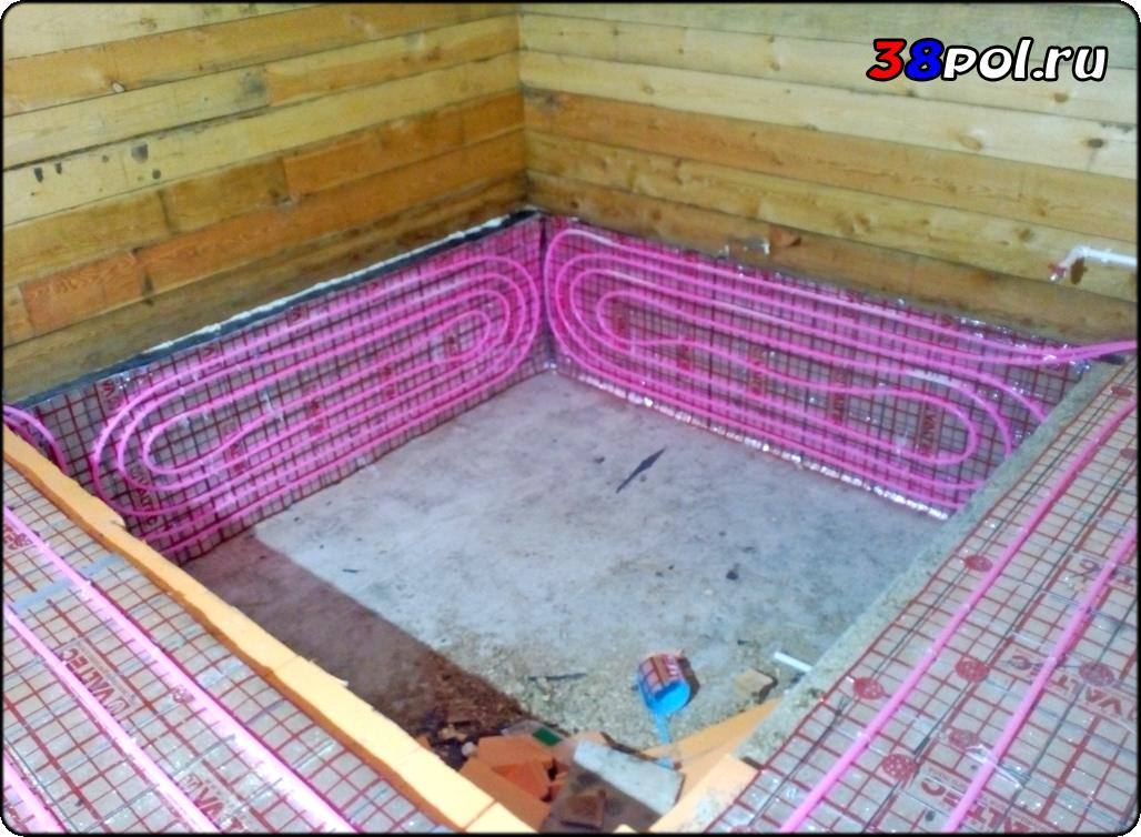 Теплый пол в бане — варианты устройства своими руками | отопление дома и квартиры