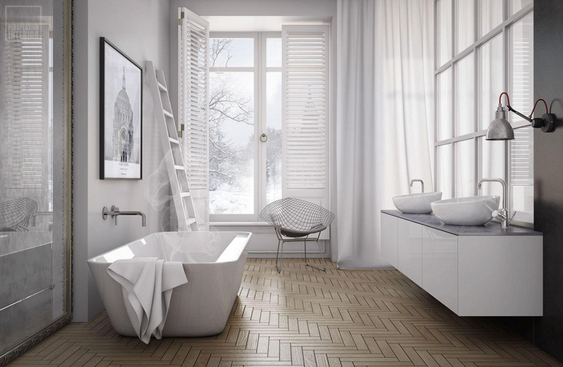 Ванная комната в скандинавском стиле - 20 фото идей интерьера