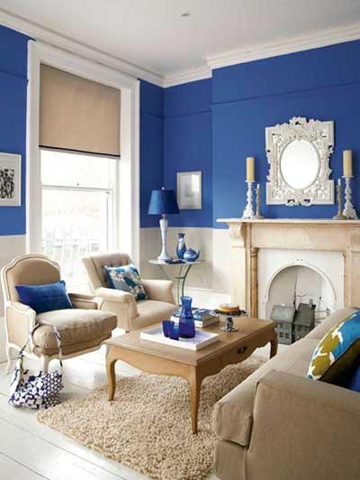 Синий цвет в интерьере для создания эмоционального фона