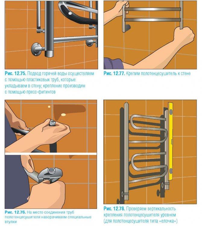 Электрический полотенцесушитель: помощь в выборе, установка