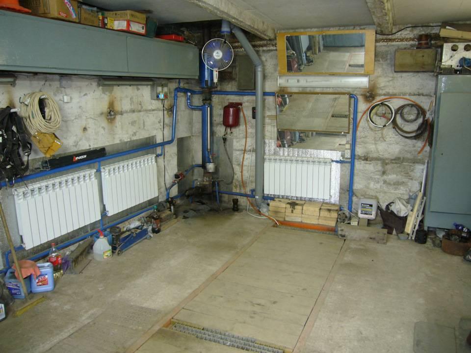 Создание водяного отопления гаража своими руками